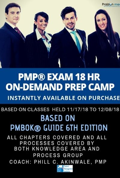 PMP Exam 4 Day Bootcamp 2018